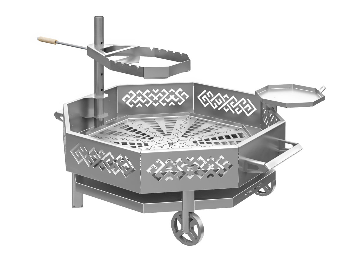 Stainless steel portable fire pit - size L (1x1m)